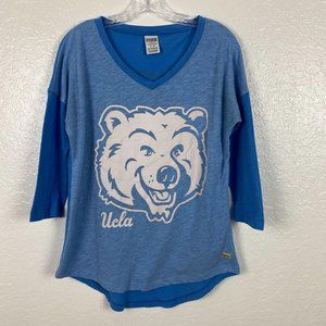 UCLA  blue 3/4 sleeve t-shirt Women's sz M